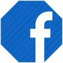 Facebook Octagon Icon