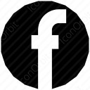 Black Circle Facebook Icon