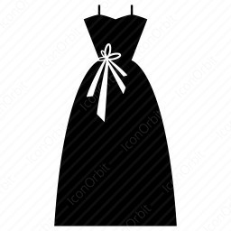 Party Wear Gown Icon Iconorbit Com