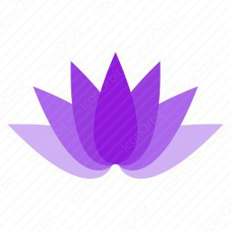 Purple Abstract Flower icon