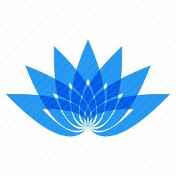 Blue Abstract Flower icon