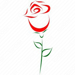 Red Rose Outline Icon Iconorbit Com