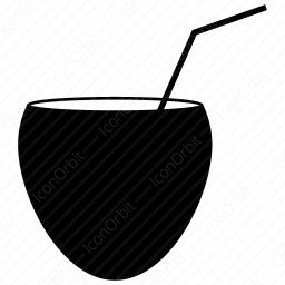 Coconut with Straw icon