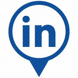 Linkedin Marker Icon Iconorbit Com