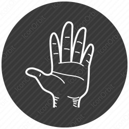 hand showing icon