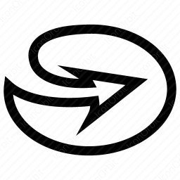 Outlined Circle Forward Arrow icon