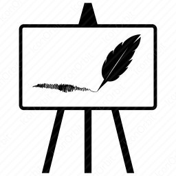 Feather Brush Easel Board icon
