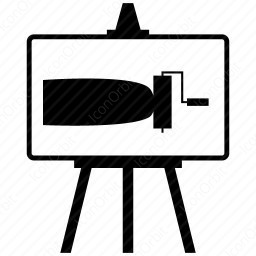Easel Paint Roller icon
