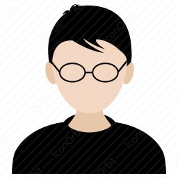Student With Glasses Icon Iconorbit Com