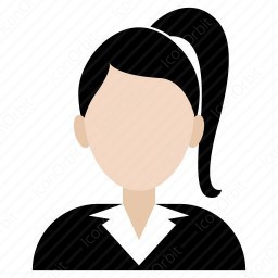 Office Girl With Ponytail Icon Iconorbit Com