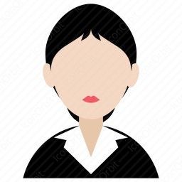 Office Girl With Bun Hairstyle Icon Iconorbit Com