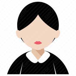 Girl With Round Face Icon Iconorbit Com