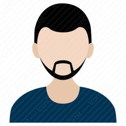 Common Man With Beard icon