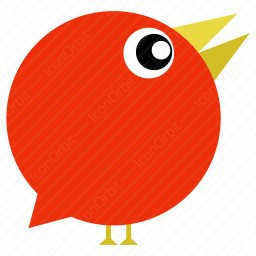 Orange Circular Bird Icon Iconorbit Com