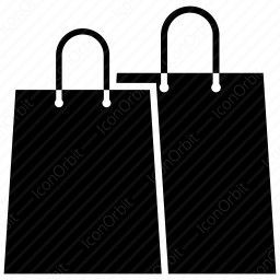 shopping bag black icon