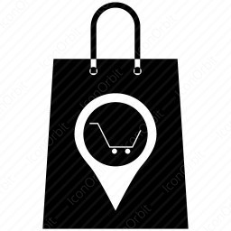shopping bag with cart icon