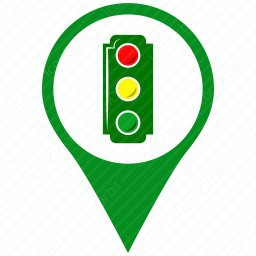 Address Marker with Signal Lights icon