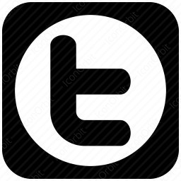 Twitter T Black And White Icon Iconorbit Com