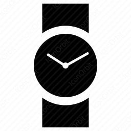 Watch With Circular Dial Icon Iconorbit Com