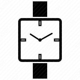 Clock with square icon