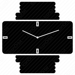 Clock with belt icon