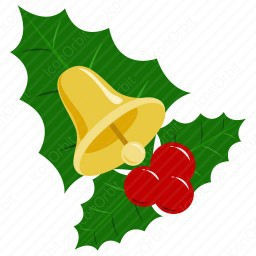 Mistletoe with Bell icon