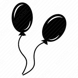 Black Balloons Icon Iconorbit Com