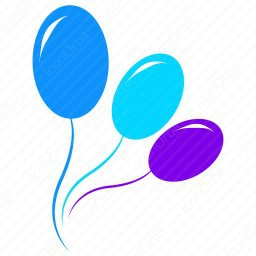 Color Balloons Icon Iconorbit Com