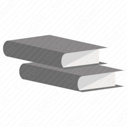 Side view flat book icon