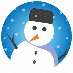 Snow Man in Snow Fall icon