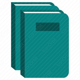 Front View Stack Books icon