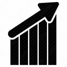 Rising Bar Graph With Arrow Up Icon Iconorbit Com