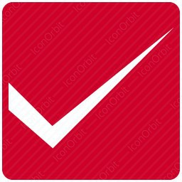 Square Red Checkmark icon