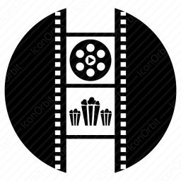 Entrainment With Movie And Popcorn Icon Iconorbit Com
