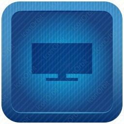 Blue Computer Front View icon