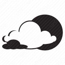 Moon In Clouds Icon Iconorbit Com