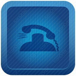 Blue Phone Receiver icon