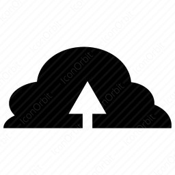 Cloud Upload Icon Iconorbit Com