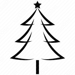 Outline Christmas Tree Icon Iconorbit Com
