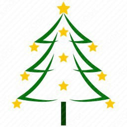 Christmas Tree Icon.Color Outline Christmas Tree Icon Iconorbit Com