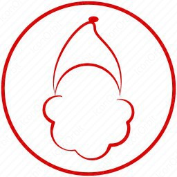 Red Outline Santa Claus icon