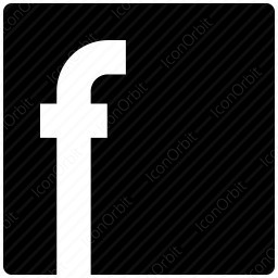 Black Square Facebook Icon